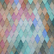 Colored Roof Tiles - Painting Art Print
