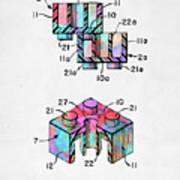 Colorful 1961 Lego Brick Patent Minimal Art Print
