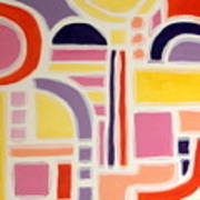 Colorful Abstract Art - Urban Maze Art Print