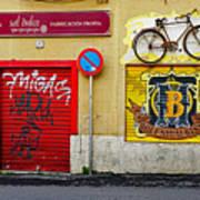 Colorful Advertising In Palma Majorca Spain Art Print