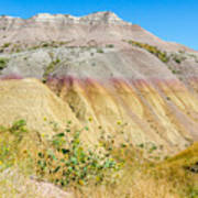 Colorful Badlands Of South Dakota Art Print