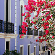 Colorful Balconies Of Old San Juan Puerto Rico Art Print by George Oze
