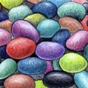 Colorful Beans Art Print