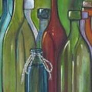 Colorful Bottles Art Print