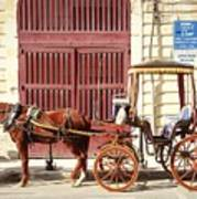 Colorful Cabs Of Malta Art Print