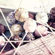 Colorful Cake Pops 3 Art Print
