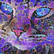 Flower Cat 2 Art Print