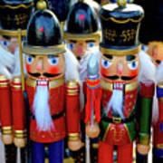 Colorful Christmas Nutcrackers Art Print