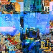Colorful City Collage Art Print