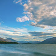 Colorful Clouds At Golden Hour On Lake Wakatipu At Glenorchy, Nz  Art Print