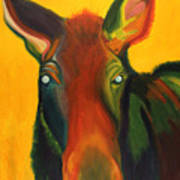 Colorful Cow Art Print by Amy Reisland-Speer