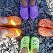 Colorful Crocs Art Print