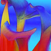 Colorful Crowd Art Print