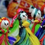 Colorful Dolls Art Print