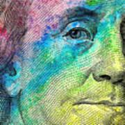 Colorful Franklin Art Print