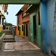 Colorful Guayaquil Alley Art Print
