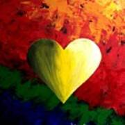 Colorful Heart Valentine Valentine's Day Art Print