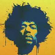 Colorful Hendrix Pop Art Art Print
