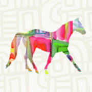 Colorful Horse 1- Art By Linda Woods Art Print