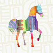 Colorful Horse 3- Art By Linda Woods Art Print