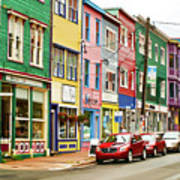 Colorful Houses In St Johns In Newfoundland Art Print