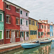 Colorful Houses On The Island Of Burano Art Print