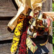 Colorful Indian Corn Decorations Art Print