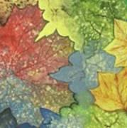 Colorful Leaves Art Print