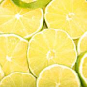 Colorful Limes Art Print