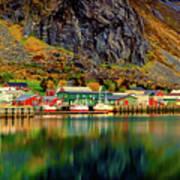 Colorful Lofoten, Norway Art Print