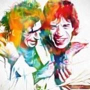 Colorful Mick And Keith Art Print
