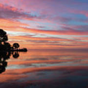 Colorful Morning Mirror - Spectacular Sky Reflections At Dawn Art Print