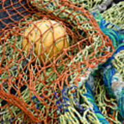 Colorful Nets And Float Art Print
