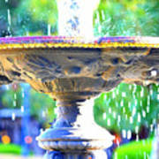 Colorful New Orleans Fountain Art Print
