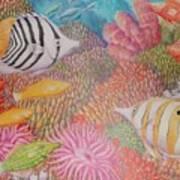 Colorful Ocean Art Print