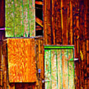 Colorful Old Barn Wood Art Print