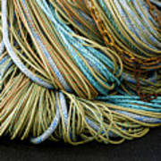 Colorful Pile Of Fishing Nets And Ropes Art Print