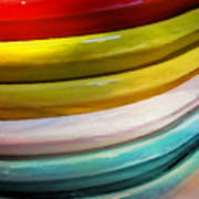 Colorful Plates Art Print