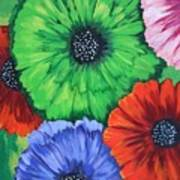 Colorful Poppy Lime Art Print
