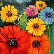 Colorful Poppy Warm No.1 Art Print