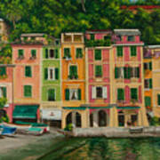 Colorful Portofino Print by Charlotte Blanchard
