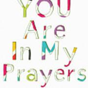 Colorful Prayers- Art By Linda Woods Art Print