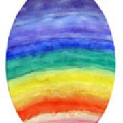 Colorful Rainbow Colored Egg Art Print