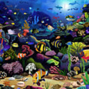 Colorful Reef Art Print