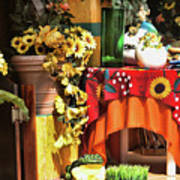 Colorful Restaurant Bucerias Art Print