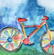Colorful Ride- Bike Art By Linda Woods Art Print