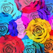 Colorful Roses Design Art Print