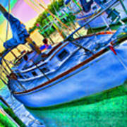 Colorful Sailboat Art Print