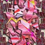 Colorful Scrap Metal Art Print