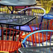 Colorful Seating Art Print